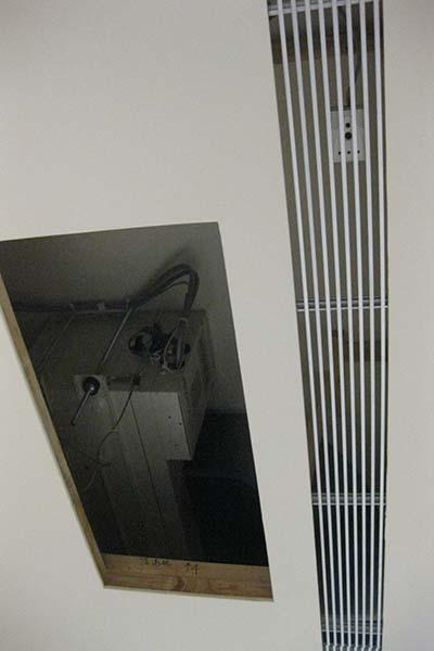 濕度感測器放置於回風測